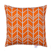 Glenna Jean Happy Camper Pillow, Orange