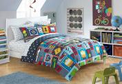 American Toddler Busy Cars Toddler 3-Piece Bedding Set with Bonus Matching Pillowcase