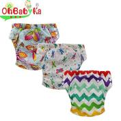 Ohbabyka Baby Training Pants,Baby Nappy Nappies Waterproof, 3PCS Pack