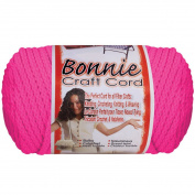 Bonnie Macrame Neon Craft Cord 4Mmx100yd-Flamingo