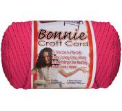 Bonnie Macrame Craft Cord 6Mmx100yd-Azalea Pink