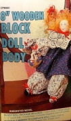 20cm Wooden Block Doll Body