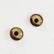8mm Vulture Bird Glass Eyes Red Doll Irises for Art Polymer Clay Taxidermy Sculptures or Jewellery Making Set of 2