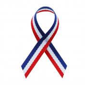 Red/White/Blue Fabric Awareness Ribbons - Bag of 250 Lapel Ribbons w/ Clutch Pins