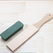 Passion Junetree Leather Strop with Wood Handle and Extra Fine Buffing Compound
