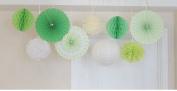Sorive 9Pcs Party Decoration Kit/Set Tissue Paper Honeycombs/Paper Fans/Tissue Paper Pom Poms/ paper lantern Birthday Wedding Party