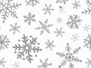 10 Large Sheets Tissue Paper Snowflake Flurry on White Tissue Paper Gift Wrapping Supplies Christmas Supply Gift 50cm x 80cm