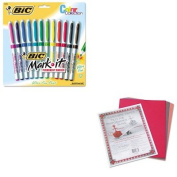KITBICGPMUP12ASSTPAC103637 - Value Kit - BIC Mark-it Permanent Markers (BICGPMUP12ASST) and Pacon Riverside Construction Paper