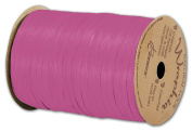 Solid Raffia - Matte Wraphia Hot Pink Ribbon, 0.6cm x 100 Yds (3/pack) - BOWS-74900-41