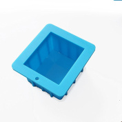 X-Haibei Large Cube Loaf Soap Silicone Mould Pan for Swirling Soap Making Supplies 530ml