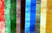 20cm x 10cm Variety Pack Stained Glass Sheets