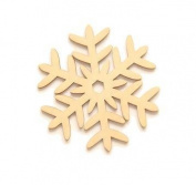 Laser Cut Wood Hanging Snowflake Ornament, Set of 10