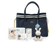 Naty Maternity Bag, Blue/White