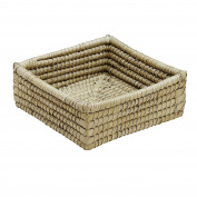 Natural Woven Kaisa Grass Basket 'Delta Palm Square Basket'
