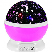 Life-Tandy Sun And Star Lighting Lamp 4 LED Bead 360 Degree Romantic Room Rotating Cosmos Star Projector With 150cm USB Cable, Light Lamp Starry Moon Sky Night Projector Kid Bedroom Lamp for Christmas