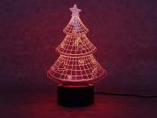 Steily 3D Optical Illusion Optical Illusion 7-Colour Changing LED Visualisation Illusion Light Desklamp Nightlight for Christmas
