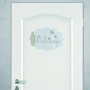 WELCOME Indicating Signs Entrance Home Logo 3D Acrylic Mirrored Door Plate Mirror Wall Stickers Home Deco
