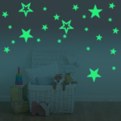 Creative Luminous Stars Skin Wall Sticker Decorative Glow in the Dark, Decor Removable Art Mural Baby Nursery Room
