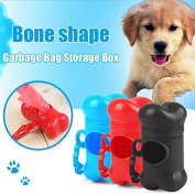 WXLAA Pet Dog Bone Shape Dispenser Box Clean Up Garbage Waste Bag Carrier Holder Case