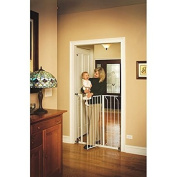 Regalo Easy Step 100cm Extra Tall Walk Through Baby Gate, Pressure Mount with Included Extension Kit