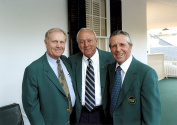 Jack Nicklaus Arnold Palmer Gary Player at The Masters