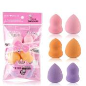 Yoyorule 6pcs Pro Beauty Flawless Makeup Blender Foundation Puff Multi Shape Sponges