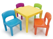 Tot Tutors Kids Plastic Table and 4 Chairs Set, Vibrant Colours Collection NEW USA