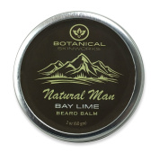 Natural Man Bay Lime Beard Balm - All Natural Beard Conditioner by Botanical Skinworks, 60ml