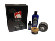 GBS Synthetic/Nylon Bristles & Travel Tin, With Col Conk Lavender Beard Wash, and Beard Oil