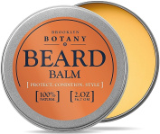 Brooklyn Botany Beard & Moustache Balm / Oil / Wax / Leave In Conditioner 50ml - 100% Natural, Soothes Itching - Thickens, Strengthens, Softens, Tames & Styles Facial Hair