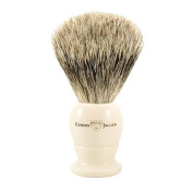 Edwin Jagger English shaving brush best badger with ivory handle, small