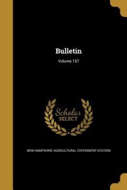 Bulletin; Volume 157