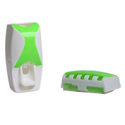 Hooao Automatic Toothpaste Dispenser Lazy Toothpaste Squeezer with Toothbrush Holder Bathroom Sets
