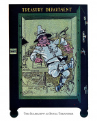 """Wizard of Oz, """"The Scarecrow as Royal Treasurer"""" (1904), Fine Art Print Featuring The Scarecrow in His Vault. Perfect for a Children's Room, Playroom, or Nursery Room"""