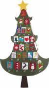 Felt Fun Christmas Tree 150cm x 90cm Fabric Advent Calendar Countdown