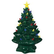 Nostalgic Lighted Ceramic Christmas Tree - Multi Colour LEDs & 6 Hour Timer