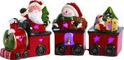 Light Up Santa Snowman Christmas Train