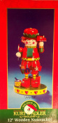"30cm Old World Wooden Hand-crafted ""Jolly Elf"" Nutcracker"
