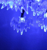 Vivian Halloween Lights Battery Operated LED Fairy String Lights 20 Blue Bat Lights Halloween Decoration