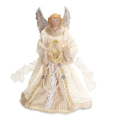 Holiday Angel Christmas Tree Topper Top 43cm Ivory Gold Blonde Hair