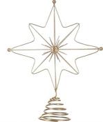33cm Gold Star Christmas Tree Topper