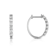 Noray Designs 14K White Gold Diamond (0.85 Ct, G-H Colour, SI2-I1 Clarity) Hoop Earrings