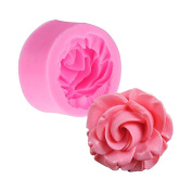 UEETEK 3D Rose Flower Baking Cups Silicone Muffin Cup Cookie Mould Fondant Chocolate Cutter Mould Decorating Tool