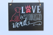 Meijiafei Love Is A Four-legged With Red Dog Word Chalk Sign