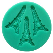 RoseSummer Eiffel Tower DIY Silicone Cookie Mould Fondant Cake Embossing Dies