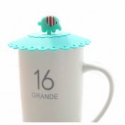 GOOTRADES Silicone Elephant Leakproof Coffee Mug Suction Lid Sealed Cup Cover