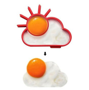 Egg Ring | 2 Sunrise Pancake Egg Ring Moulds | Egg Poachers | Kitchen Fried Egg Mould Pancake Kitchen Tool, Benedict Eggs - Omelettes Nonstick Mould -(red) set of 2