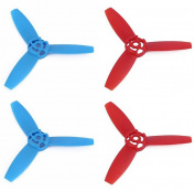 Rukiwa Upgraded 3-Leaf Propellers Blue & Red Blades for Parrot Bebop Drone 3.0
