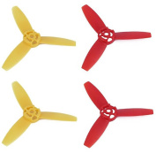 Rukiwa Upgraded 3-Leaf Propellers Yellow & Red Blades for Parrot Bebop Drone 3.0
