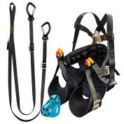 Fusion Climb Pro Backyard Zipline Bundle Harness Lanyard Trolley Kit FK-A-HLT-14